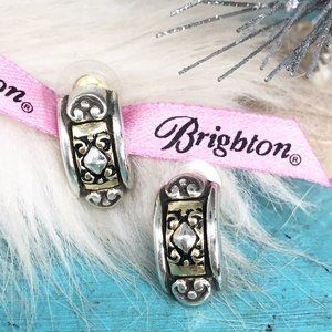 Brighton Intrigue Heart Two Tone Post Earrings